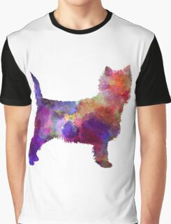 Cairn Terrier in watercolor Graphic T-Shirt
