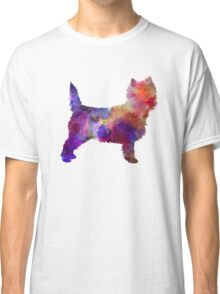 Cairn Terrier in watercolor Classic T-Shirt