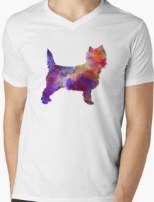 Cairn Terrier in watercolor Mens V-Neck T-Shirt