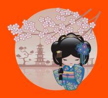 Japanese Keiko Kokeshi Doll Kids Tee