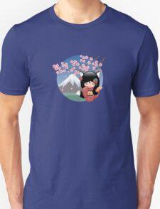 Japanese Kitsune Kokeshi Doll Unisex T-Shirt