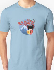 Japanese Red Sakura Kokeshi Doll Unisex T-Shirt