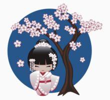 Japanese Bride Kokeshi Doll One Piece - Short Sleeve