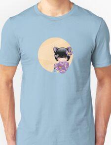 Japanese Nekomimi Kokeshi Doll Unisex T-Shirt
