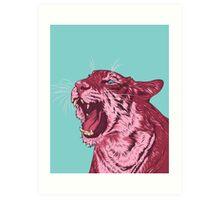 Magenta tiger Art Print