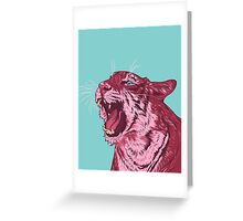 Magenta tiger Greeting Card