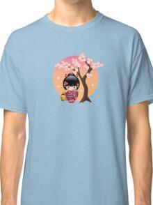 Japanese Sakura Kokeshi Doll Classic T-Shirt