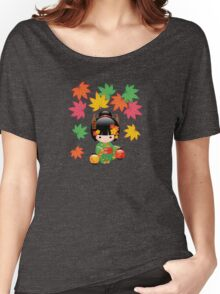 Japanese Fall Kokeshi Doll Women's Relaxed Fit T-Shirt