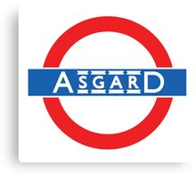 London Underground-style Asgard Canvas Print