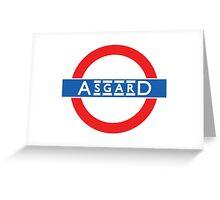 London Underground-style Asgard Greeting Card