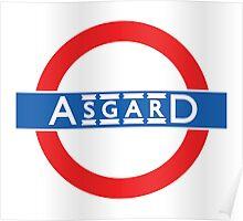 London Underground-style Asgard Poster
