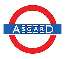 London Underground-style Asgard Photographic Print