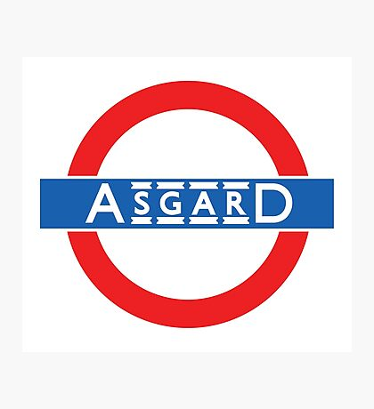 London Underground-style Asgard Photographic Print