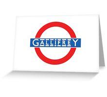 London Underground Gallifrey Greeting Card
