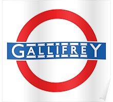 London Underground Gallifrey Poster