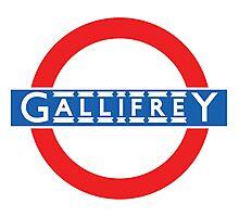 London Underground Gallifrey Photographic Print