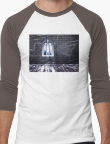 Room with Gothic Window 2 Men's Baseball ¾ T-Shirt