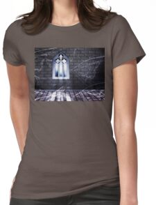 Room with Gothic Window 2 Womens Fitted T-Shirt