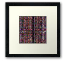 Abstract glowing neon lines pattern Framed Print