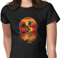 SUNSET HOLIDAYS Womens Fitted T-Shirt