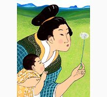 Mrs Hokusai Blows a Dandelion For The Baby Unisex T-Shirt