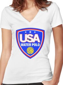 Team USA Water Polo Women's Fitted V-Neck T-Shirt