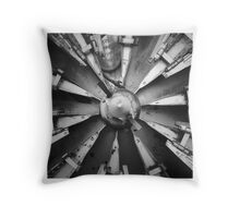 Training Engine Rotary Snow Auger  Throw Pillow
