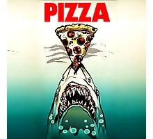 Pizza Shark Jaws Parody Photographic Print