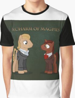 Charm of Magpie pony art on green Graphic T-Shirt