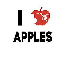 I love apples Photographic Print
