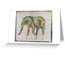 Rainbow elephant  Greeting Card