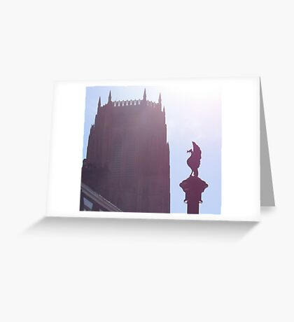 Cathedral and Liverbird Greeting Card