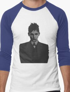 Penguin portait - Gotham Men's Baseball ¾ T-Shirt