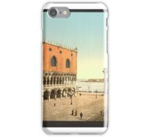 The Doges' Palace and the Piazzetta, Venice, Italy (Detroit Publishing LOC) iPhone Case/Skin