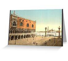 The Doges' Palace and the Piazzetta, Venice, Italy (Detroit Publishing LOC) Greeting Card