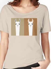 LLAMA COUPLE Women's Relaxed Fit T-Shirt