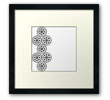 Monochrome geometrics  Framed Print
