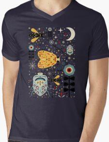 Midnight Bugs Mens V-Neck T-Shirt