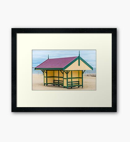 Victoriana Beach Hut Framed Print