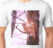 Barred Owl Looking At Me Unisex T-Shirt