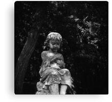 Cemetery Child - Vintage Lubitel 166 Photograph Canvas Print