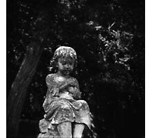 Cemetery Child - Vintage Lubitel 166 Photograph Photographic Print
