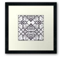 geometrical waters - monochrome Framed Print