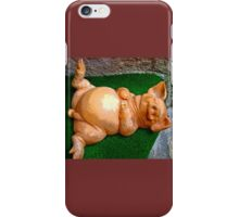 Happier Than A Pig In Grasse iPhone Case/Skin