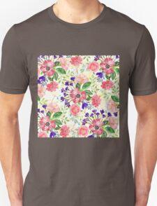Watercolor garden flowers Unisex T-Shirt