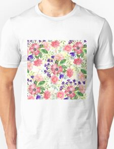 Watercolor garden flowers Unisex T-Shirt