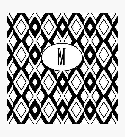 M Diamonds Photographic Print