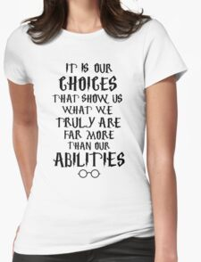 Dumbledore quote Womens Fitted T-Shirt