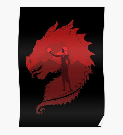 Mother of Dragons (Dark) Poster