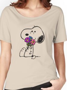 Snoopy Springtime Women's Relaxed Fit T-Shirt